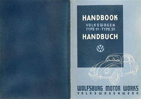 Betriebsanleitung Volkswagen Type 11 Und Typ 51