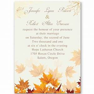 11 fall wedding invitation wording ideas unique funny With handmade fall wedding invitations ideas