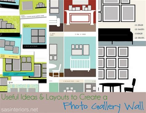 Wall Templates For Hanging Pictures by Useful Ideas And Layouts To Create A Photo Gallery Wall