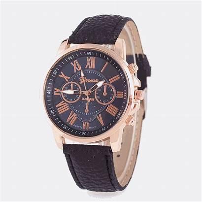 Geneva Unisex Watches Quartz Leather Wrist Gold
