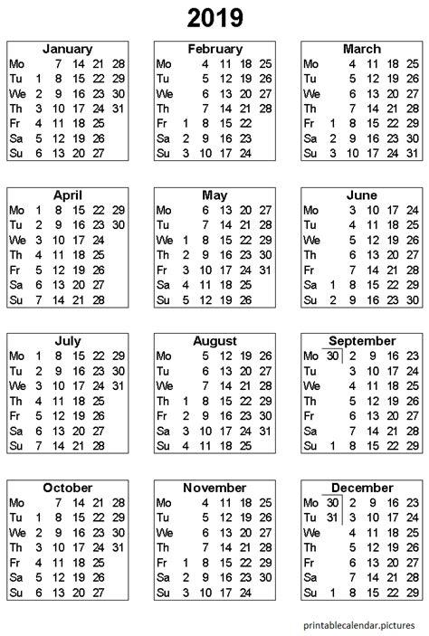 printable yearly calendar printable calendar printable