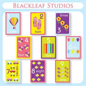 numbers flash cards diy printable for toddlers by blackleafdesign