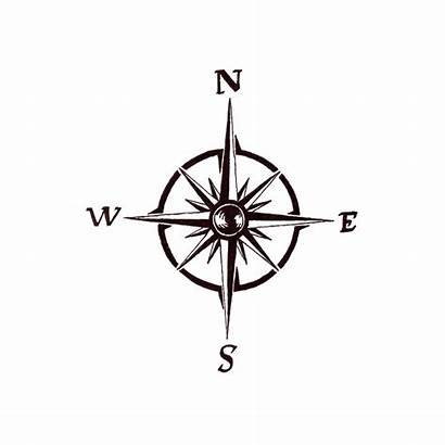 Compass Tattoo Simple Rose компас тату Clipart