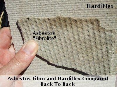 asbestos fibro  hardiflex compared notice  dimples