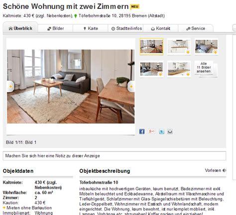 2 3 Zimmer Wohnung Bremen by Wohnungsbetrug 5 Januar 2014