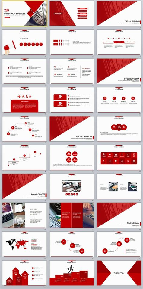 desarrollo web templat 30 red business report powerpoint templates ppt