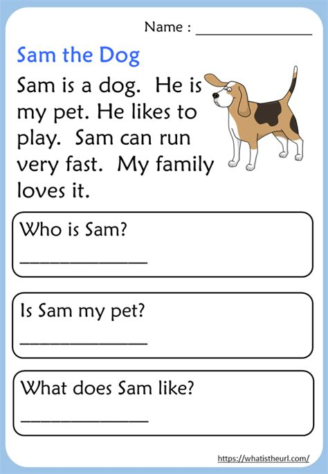 kindergarten reading comprehension passages  home
