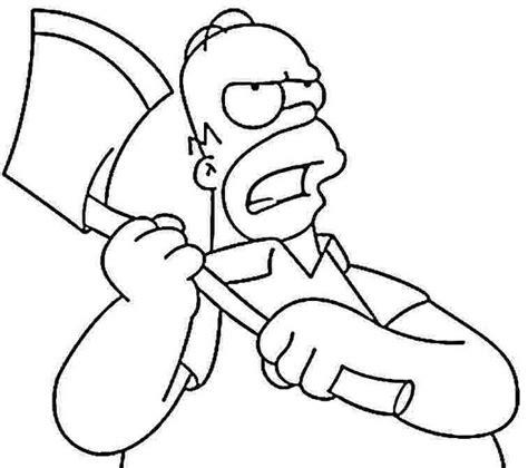 Homer Kleurplaat by 45 B 228 Sta Bilderna Om Coloring Pages The Simpsons P 229
