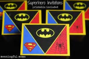 Superhero Party Invitations Printable Free