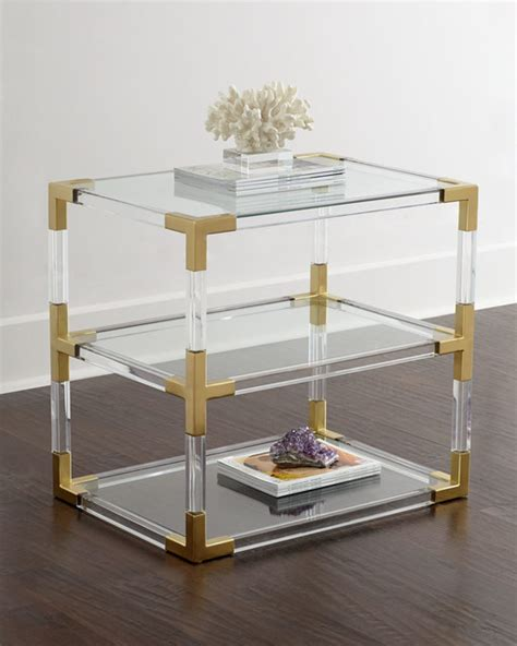 Jonathan adler | modern home decor, accessories and gifts feature chic, iconic designs. Jacques Lucite Two-Tier Table - Nightstands And Bedside Tables - by Horchow