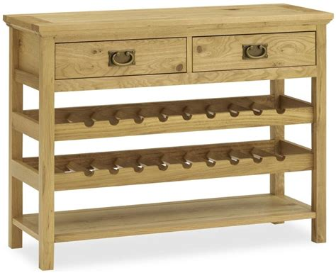 wine rack console table buy bentley designs provence oak console table with wine