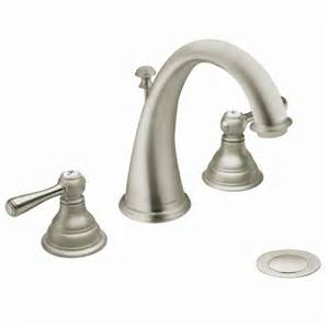 t6125bn moen kingsley series two handle widespread brushed nickel
