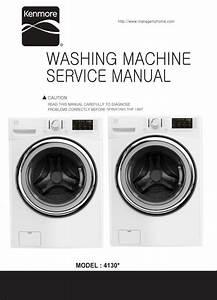 Kenmore 41302 41303 Washer Service Manual And Repair