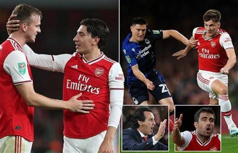 Likes to play short passes. sport news Hector Bellerin, Rob Holding and Kieran Tierney ...