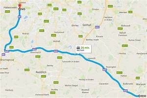 Map  From Google Maps  Displaying The Northbound Route