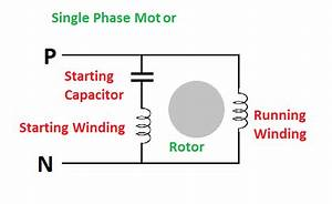 Single Phase Motor Start Capacitor Wiring Diagram