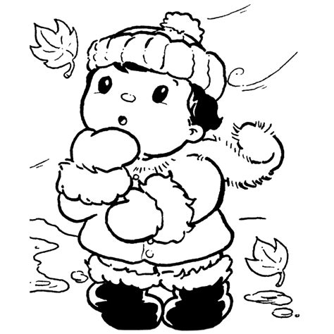Kleurplaat Winter by Leuk Voor Warm Aangekleed