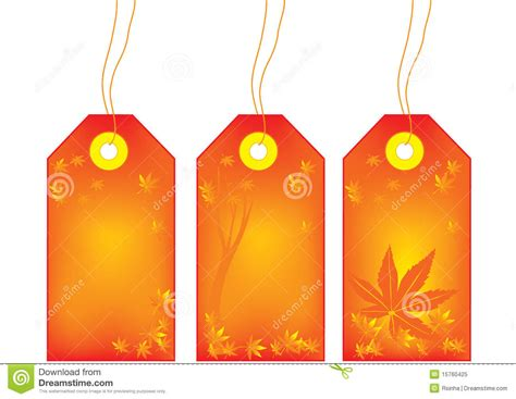 autumn sale tags royalty  stock photo image