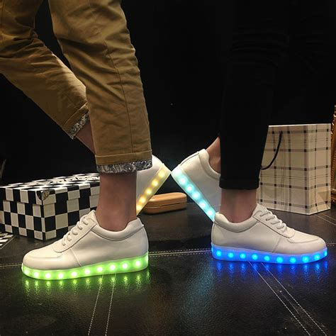 led light up shoes in stores aliexpress com buy kriativ led usb shoes glowing