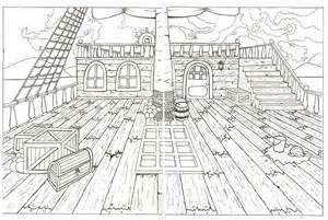 cabin blueprints floor plans pirate ship layout by andrellita on deviantart