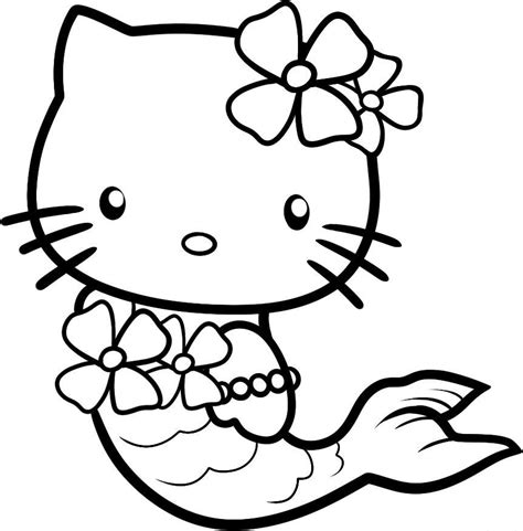 cool  kitty coloring pages   print