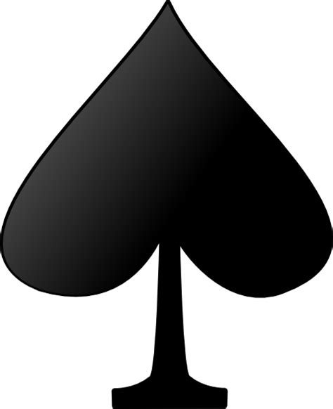 spades card card figures spade clip art at clker com vector clip art online royalty free public domain