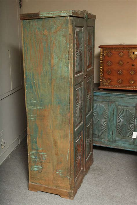 carved kitchen cabinets deco carved goan cabinet with vintage paint at 1stdibs 2009