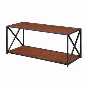 convenience concepts tucson black and cherry coffee table With black and cherry coffee table
