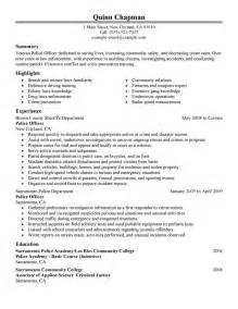 Security Resume Objective by Enforcement Resume Sles Entry Level Resume