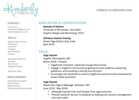 Yoga Resume Examples Free Download Teacher Samples