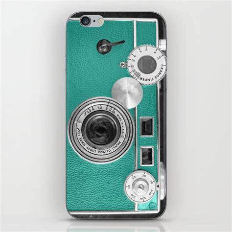 teal retro vintage phone iphone skin  woodnimages society