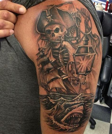 50 Pirate Tattoos For Men  Arrr, Ships And Eye Patches
