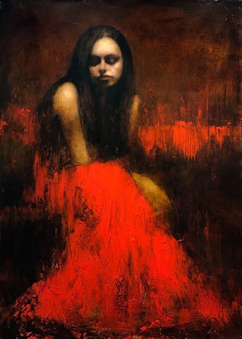 Mark Demsteader Study for Evensong Original Oil Painting Sold
