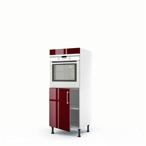 meuble cuisine encastrable demi colonne four 1 porte griotte h 140 x l 60 x p