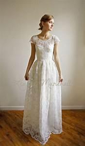 ellie long 2 piece lace and cotton wedding dress price With cotton lace wedding dress