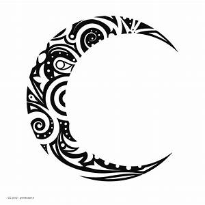 tribal moon designs | Tribal Crescent Moon Tattoo | Drawings | Pinterest | Moon design ...