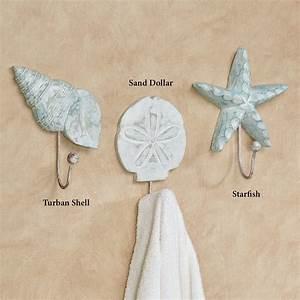 shoreline treasures coastal decorative wall hooks With decorative wall hooks