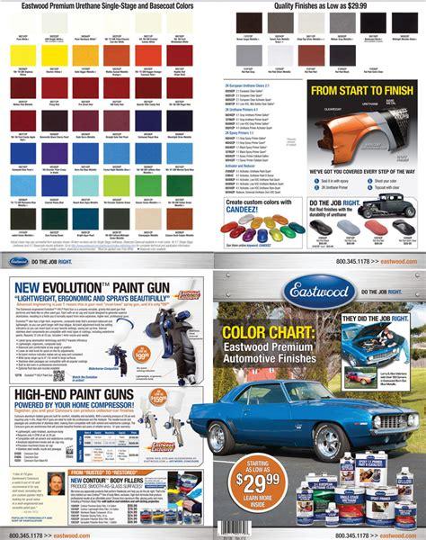 eastwood automotive paint color chip chart ebay