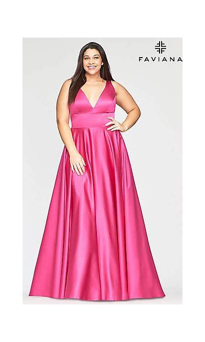 Prom Dresses Formal Pockets Promgirl Busty Blush