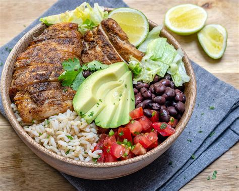 Southwest Chicken Rice Bowls For Epic Clean Eating Meal