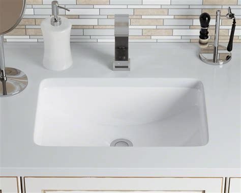 U-white White Rectangular Porcelain Sink