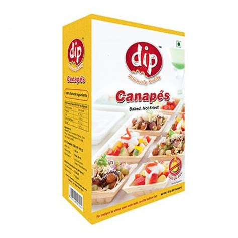 canapes with chagne dip canapes 50gms