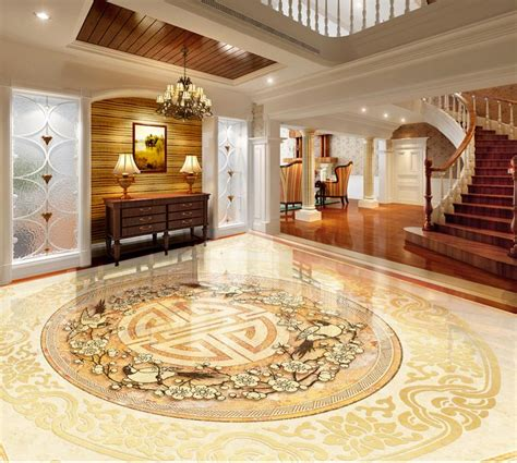 chinese classic floor wallpaper custom  floor painting