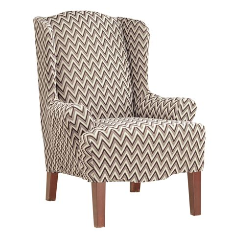 sure fit stretch chevron wing chair slipcover ebay