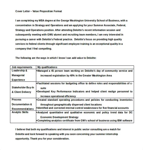 Value Proposition Resume by Value Proposition Template 5 Exles Of Value Proposition Developing And Implementing Value