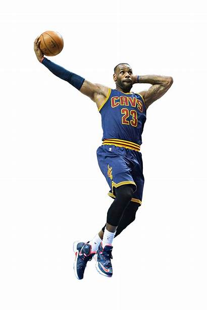 Lebron James Dunking Basketball Cutout Transparent Background