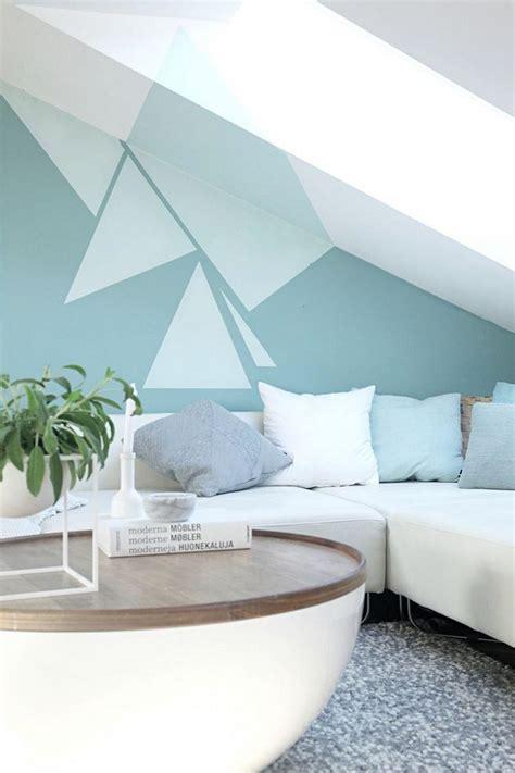applique murale chambre à coucher peinture décorative dessin géométrique sublimez les murs