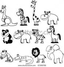 Zoo Animals Clip Art Black and White