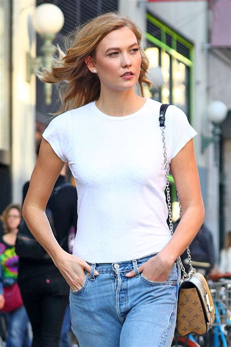 Karlie Kloss Boyfriend Jeans Tan Hiking Boots