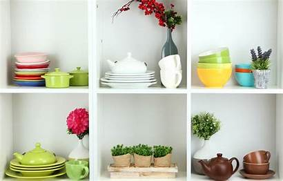 Branches Vases Saucers Kettles Mugs Shelves Dishes